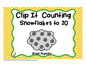 Clip It Counting Snowflakes