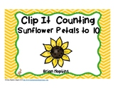 Clip It Counting Sunflower Petals to 10
