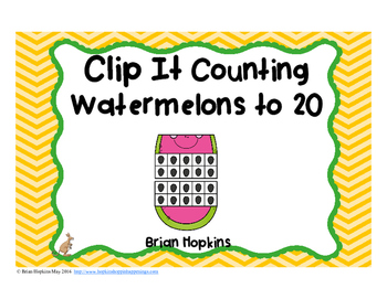 Clip It Counting Watermelons