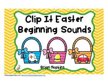 Clip It Easter Beginning Sounds
