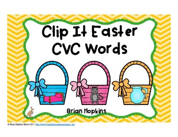 Clip It Easter CVC Words