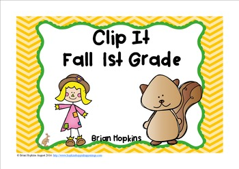 Clip It Fall Math 1st Grade