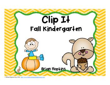 Clip It Fall Kindergarten Math