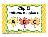 Clip It Fall Leaves Alphabet