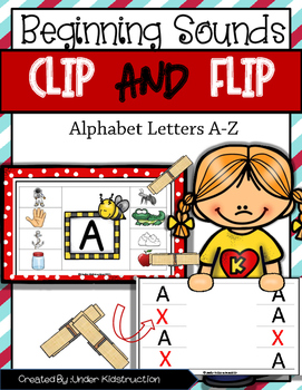 Beginning Sound; Clip It Flip It Center/Activity