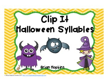 Clip It Halloween Syllables