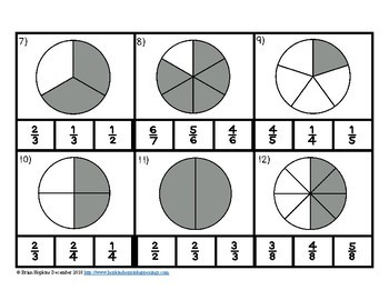 Clip It Identifying Fractions