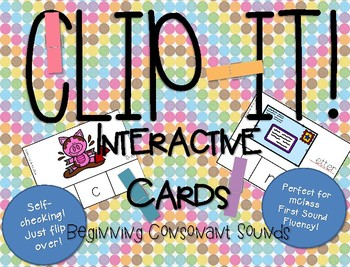 Clip It! Interactive Activities for Beginning Sounds