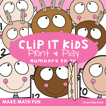 Clip It Kids - 1:1 Correspondence, Counting and Numbers