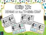 Clip It:  Notes of the Treble Clef - PDF EDITION