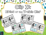 Clip It: Notes of the Treble Clef - POWER-POINT EDITION