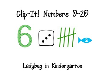 Clip It Numbers Grab and Go Packets