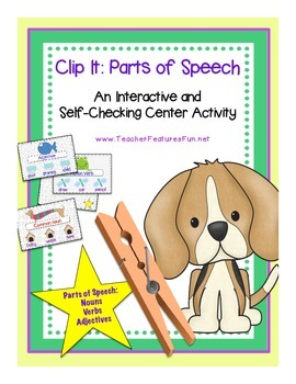 Parts of Speech (An Interactive and Self-Checking Center Activity)