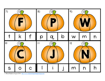Clip It Pumpkin Alphabet