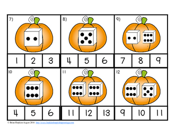 Clip It Pumpkin Dice Counting