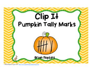 Clip It Pumpkin Tally Marks