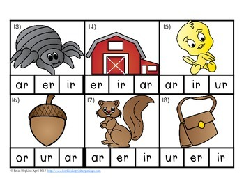 Clip It R-Conrolled Vowels