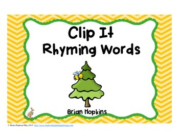 Clip It Rhyming Words