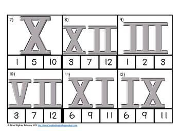 Clip It Roman Numerals