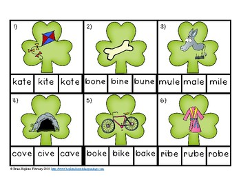 Clip It St. Patrick's Day CVCE Words