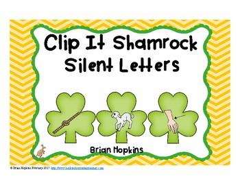 Clip It St. Patrick's Day Silent Letters