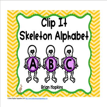 Clip It Skeleton Alphabet