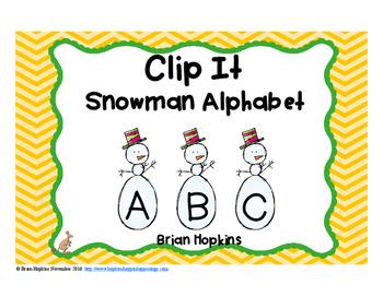 Clip It Snowman Alphabet