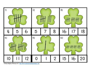 Clip It St. Patrick's Day Tally Marks
