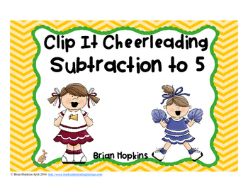 Clip It Subtraction to 5 Cheerleading