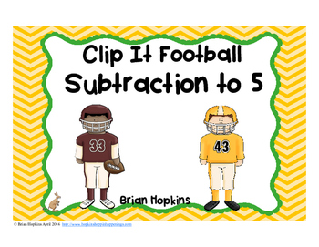 Clip It Subtraction to 5 Football