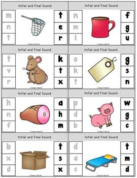 Clip It Task Cards using CVC Words Bundled