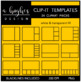 Clip-It Templates Clipart {A Hughes Design}