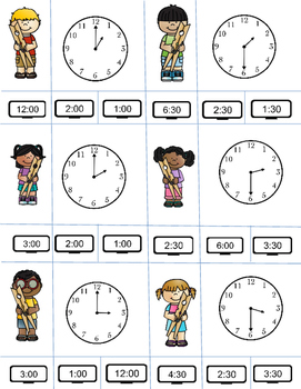 Clip It! Time: A Telling Time Game