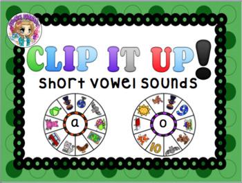 Clip It Up Short Vowel Wheels