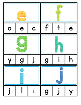 Clip It: Uppercase & Lowercase Letters