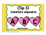 Clip It Valentine's Day Alphabet
