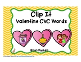 Clip It Valentine's Day CVC Words