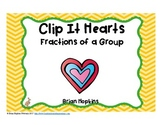 Clip It Valentine's Day Fractions of a Group