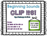 Clip Its!  Beginning Sounds