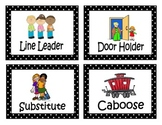 Clip Labels for Classroom Job Signs