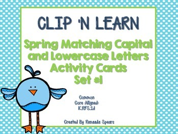 Clip N' Learn Spring  Activity Cards Set #1