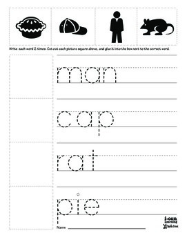 Clip & Stick 3 Letter Words - Pac 2