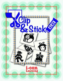 Clip & Stick 3 Letter Words - Pac 4