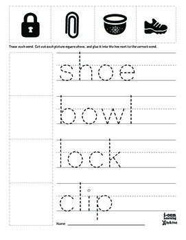 Clip & Stick 4 Letter Words - Pac 3