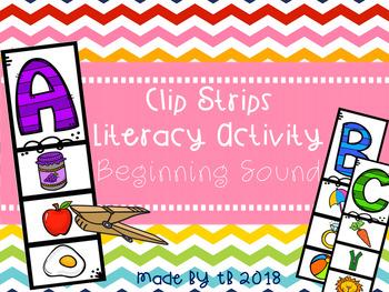 Clip Strips Literacy Activity Beginning Sound
