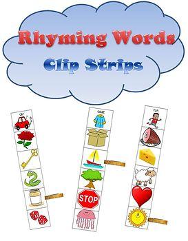Clip Strips: Rhyming Words