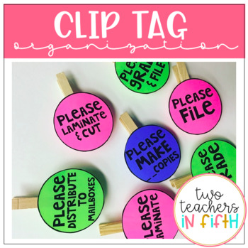 Clip Tags to Organize Volunteer Prep Work {editable}