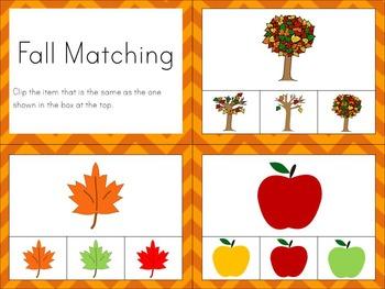 Math Clip Task Cards ~ Fall
