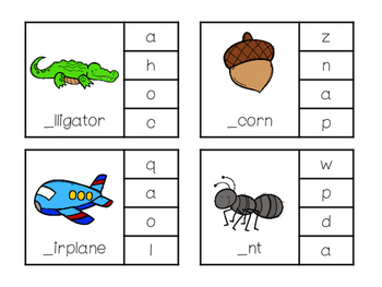 Clip That Beginning Sound A-Z