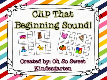 Clip That Beginning Sound A-Z